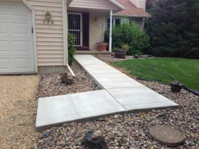 New Sidewalk Concrete Paving