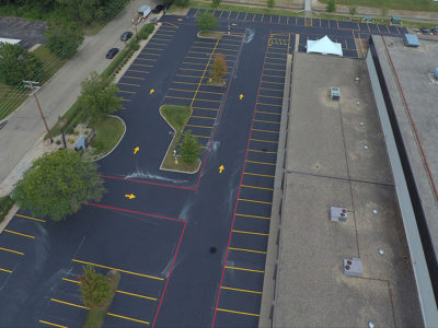 Hallman Asphalt Parking Lots with Directions