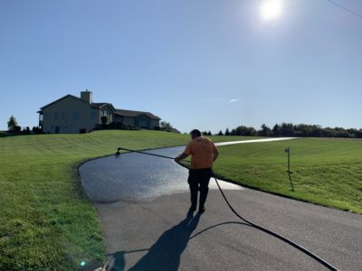 Sealcoating a Madison, WI Driveway